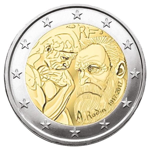 piece de monnaie 2 euros rodin